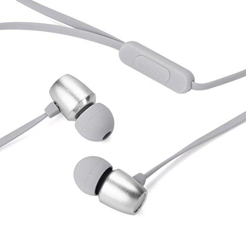 Preisvergleich Produktbild 2018 Mode Kopfhörer,  LANDFOX Neu Ohrhörer,  Neu 3.5mm F1 Tragbare Originalität Sport Musik Stereo Headset Kopfhörer (Grau)