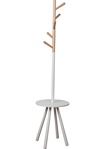 Zuiver 7100005 Coat Rack Table Tree, Holz, weiß, 40 x 40 x 169 cm