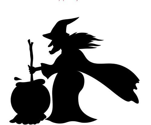 en Hexe Aufkleber Abnehmbare Halloween Festival Dekor Schwarz DIY Wall Sticker Poster Wallpaper Party Dekoration ()