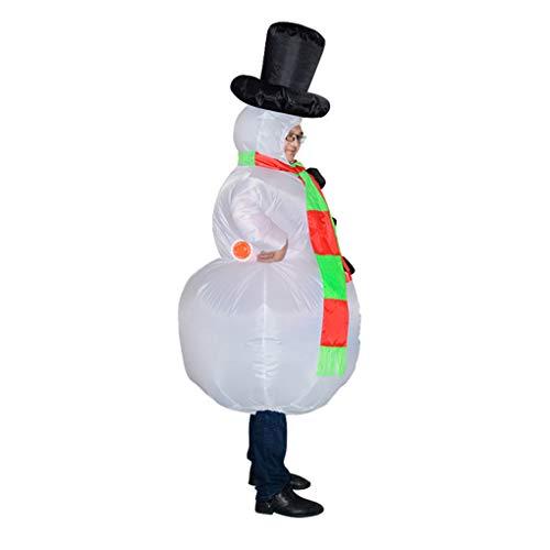 Hotaluyt Weihnachten Carnaval Erwachsener Schneemann Inflatable Kostüm Cosplay Kleid Halloween-Kostüme Anime-Klage