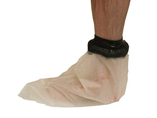 Limbo Gips- und Verbandschutz Fuß, wasserdichte Duschhülle zum Duschen mit Gips, Verband oder Wunde, Umfang über Knöchel: 23-34 cm