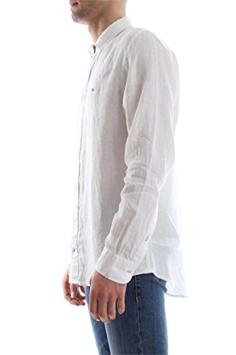 TOMMY HILFIGER MW0MW00519 SOLID LINEN CHEMISE Homme white