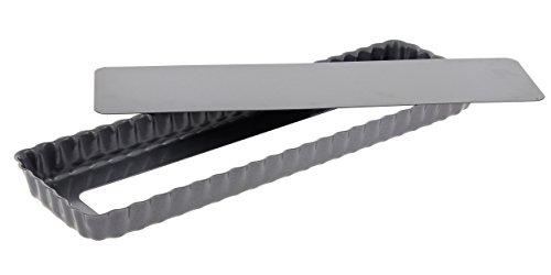 De Buyer 4708.36 - Molde para tarta (rectangular, fondo amovible, 36 cm)