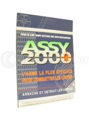 ASSY 2000 - Pettine anti pidocchi e anti lendini - in acciaio inox temperato con denti micro-scanalati