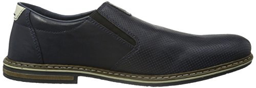 Rieker 14565 Loafers & Mocassins-men, Mocassins homme Bleu - Blau (atlantis/chalk / 15)