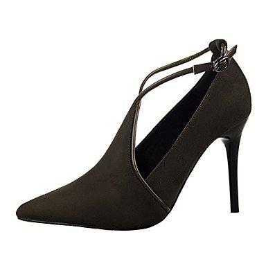 Moda Donna Sandali Sexy donna tacchi tacchi Estate Felpa casual Stiletto Heel altri nero / rosso / grigio chiaro / mandorla / Khaki Altri Red