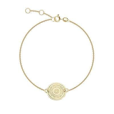 Bracelet chainette médaille Maya - Bracelet Ethnique en plaqué Or