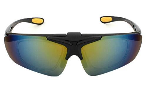 Anyeda Sportbrille Fahrradbrille Unisex TPU+PC Brille Snowboard Goggles Gold Silber
