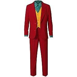 HeChao Traje de Joker Traje de Fiesta de Halloween Cosplay 2019 Película Cosplay Arkham Asylum Camisa Chaleco Abrigo Pantalones Traje Conjunto