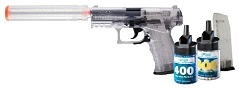 Walther PPQ Spring Airsoft Pistol Kit with Accessories, Clear by Walther