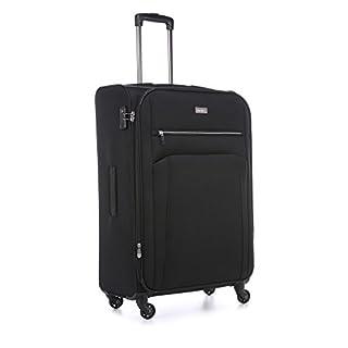 Antler Marcus Siro Large Suitcase Black, Size: 79 x 49 x 30
