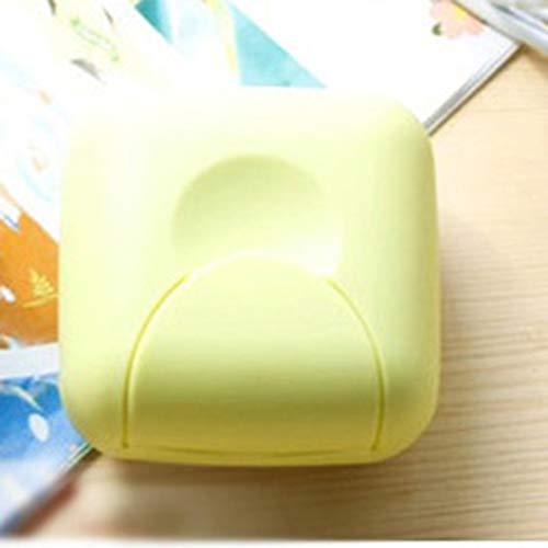 Grün Kleine tragbare Mini-Handy-Badezimmer Dish Platte Fall Start Dusche im Freien Spielraum Wandern Halter-Behälter Sealing Seifenkisten
