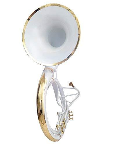 Neu Sousaphone Kleiner BB-Platz, Weiß, inkl. Tragetasche, MP + Versand