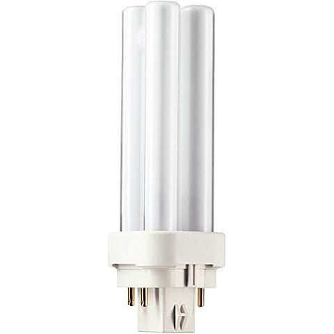 Philips - Lampadina PL-C 10 Watt, luce bianca calda (830),