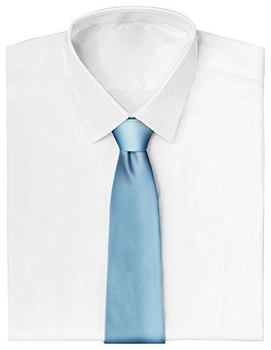Business Männer Kostüm - Loomiloo Krawatte schmal Schlips dünn Anzug Party Business Kostüm (Hellblau)
