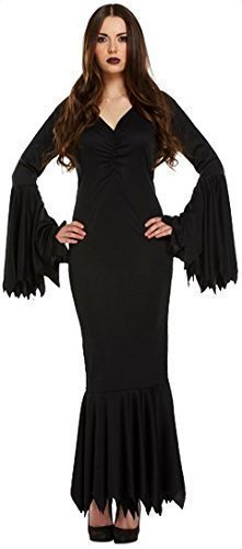 arz Vampir Morticia Addams Familie Halloween Kostüm Kleid Outfit UK 8-12 (Familie Fancy Dress Kostüme)