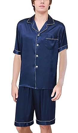 54d2c96b68 BoBoLily Men s Pajamas Set Summer Lightweight Sleepwear Bathing ...
