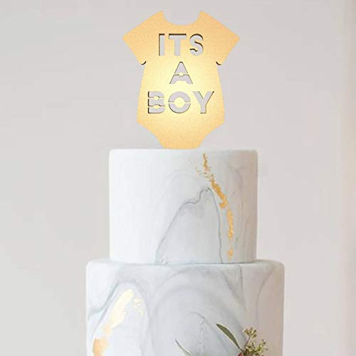 Tortenaufsatz für Hochzeitstorten, Aufschrift It's A Boy It's A Boy Boy Geschlecht Enthüllt Baby Announcement Jahrestag Cake Topper Party Event Dekoration