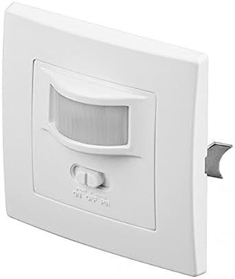 Interrupteur mural détecteur de mouvement et de son encastré avec LED 160° pour lampes