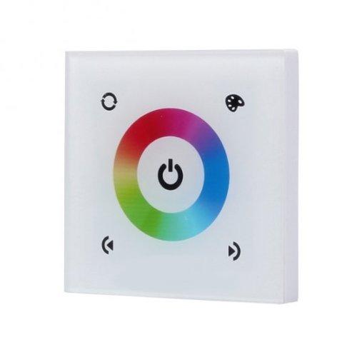 Regulador táctil de pared para LED DC 12-24 V, 3 canales, color blanco