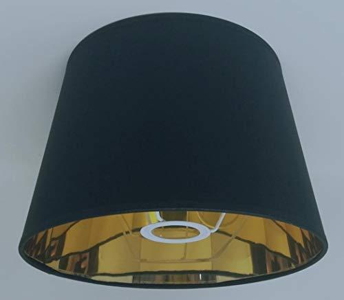 ArG Lighting 25,4cm Empire Lampenschirm Gold Futter schwarz/weiß Licht Schatten handgefertigt Tisch Lampe schwarz -