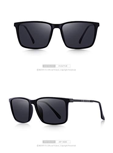 WWVAVA Sonnenbrillen Men Classic Square HD Polarized Sunglasses Aluminium Legs UV400 Protection,c3