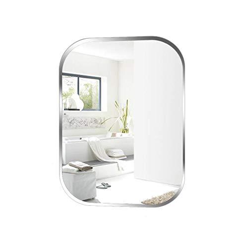 Home warehouse Wandhalterung Badezimmerspiegelglas Quadratischer Schminkspiegel Verbundenes Badezimmerspiegel Badezimmerspiegel Bekleidungsgeschäft Versuchen Sie es mit dem Spiegel,50 * 70CM