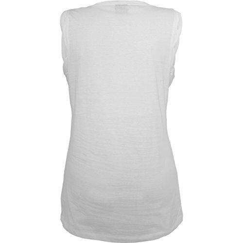 Halloween - Happy Halloween - ärmelloses Damen T-Shirt mit Brusttasche Weiß