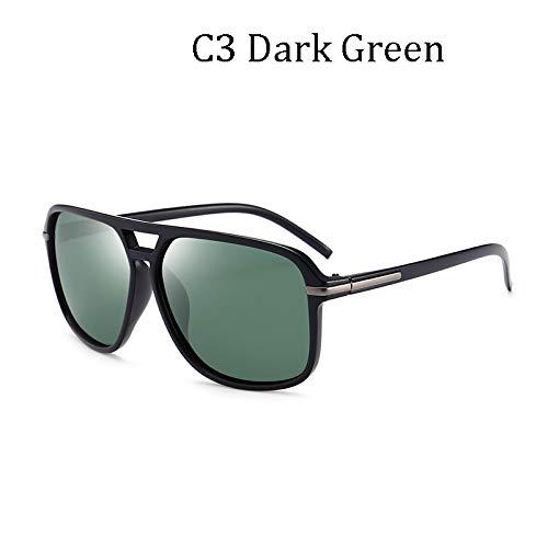 LIUYIAO Die kühle quadratische Art der Art- und Weisemänner polarisierte die Sonnenbrille, die Retro Markendesign-preiswerte Sonnenbrille fährt,C3