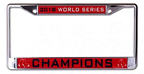 Stockdale Boston Red Sox 2018 World Series Champions Bold Logo Design Laser Rahmen Chrom Metall Nummernschild Tag Cover Baseball