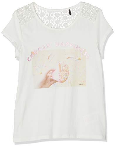 IKKS JUNIOR T Shirt Blanc Casse BI Matiere Dentelle, Fille, Beige (Blanc Cassé 19), Large (Taille Fabricant:L)