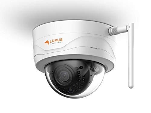 Lupus Electronics 10204 LE204 3MP WLAN IP Kamera für draußen, SD Slot, 100°, Nachtsicht, Bewegungserkennung, iOS & Android APP, Integrierbar in Lupus Smarthome Alarmanlagen, inkl. Verwaltungssoftware