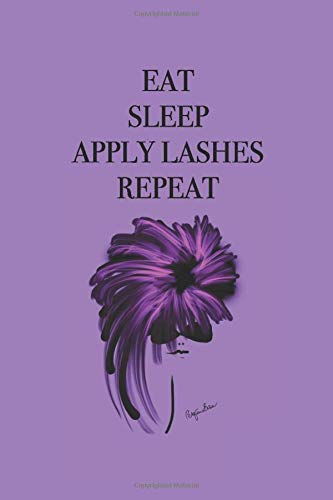 Eat Sleep Apply Lashes Repeat: Stylishly illustrated little notebook to accompany you on all your shopping trips for those important beauty items. - Brow Liner Brush