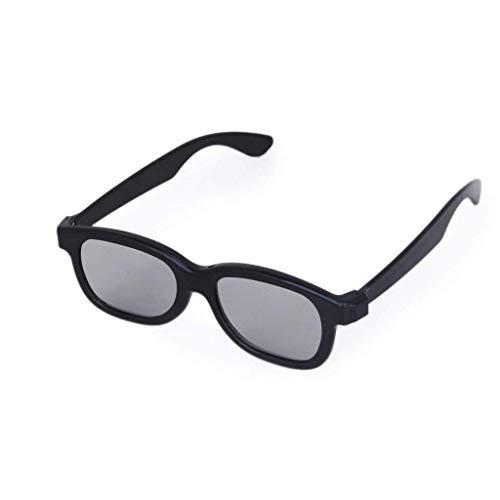 Kakooze Kakooze 1x1 Black Adults Passive Circular Polarized Lens 3D Glasses for LG Panasonic Sony TVs Monitor