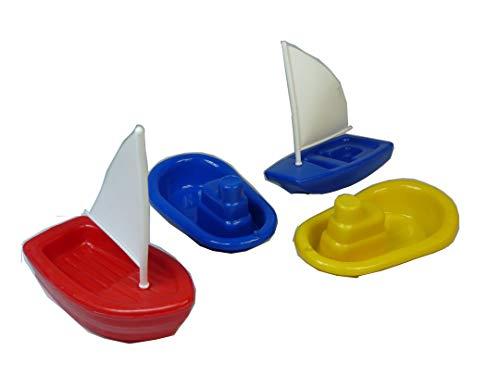 4 Stück Badewannen Spielzeug Boote, auch ideal für den Strand, Sandspielzeug, Badespielzeug, usw