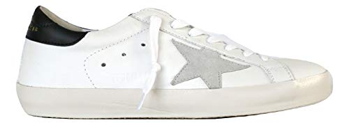 a690bfddb5444 Golden Goose Scarpe Sneakers Uomo Vintage Superstar G32MS590.E73 Bianco  Nero n. 39 EU