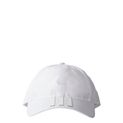 adidas Six-Panel Classic 3-Stripes Hat Climalite Cap, One Size Fits Most, White Adidas 3 Stripe Cap