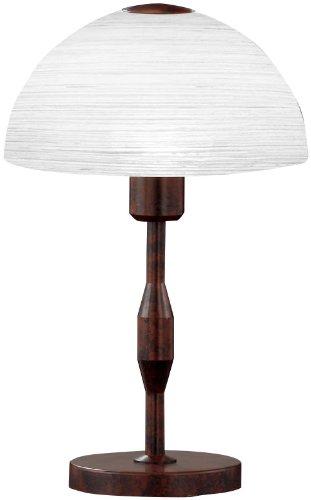 Honsel Leuchten 57951 Tischleuchte rostfarbig antik Glas weiß gewischt