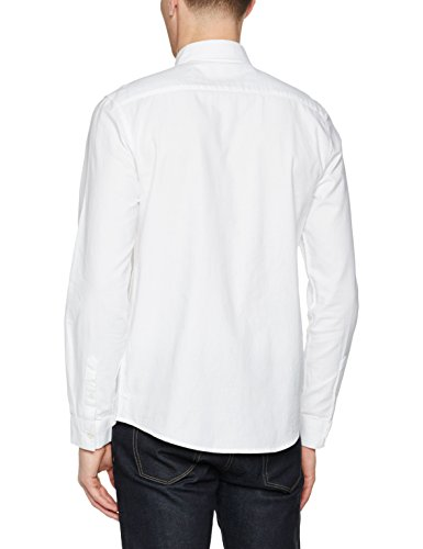 New Look Long Sleeve Brushed Twill, Chemise Habillée Homme Blanc