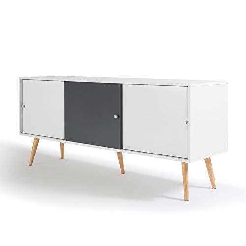 Style Moderne HxLxL Rebecca Mobili Buffet de Salon Marron - Art Dimensions: 120 x 90 x 45 cm 2 Portes en Bois Marron RE4805 Meuble pour Salle a Manger