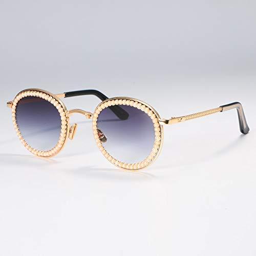 GFF Perle Runde Sonnenbrille Männer Frauen Mode UV400 Vintage Brille 51003 -
