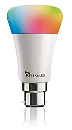 Syska Smart Light 7W LED Bulb Compatible with Amazon Alexa & Google Assistant