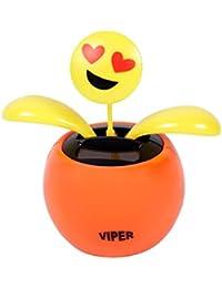 Figurine smiley dansant se balance à l'énergie solaire type Nohohon Emoji émoticônes balancier déco voiture maison terrasse jardin idée cadeau décoratif flip swin orange jaune original, choisir:SB-35 Emoticon amoureux