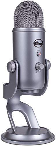 Blue Yeti, microfono USB per registrazione e streaming su PC e Mac, 3 capsule del condensatore, 4 modalità di rilevamento, uscita cuffie e controllo volume - Cool Grey