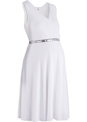 festliches Umstandskleid, Stillkleid, Kleid für Schwangere, Hochzeitskleid weiß