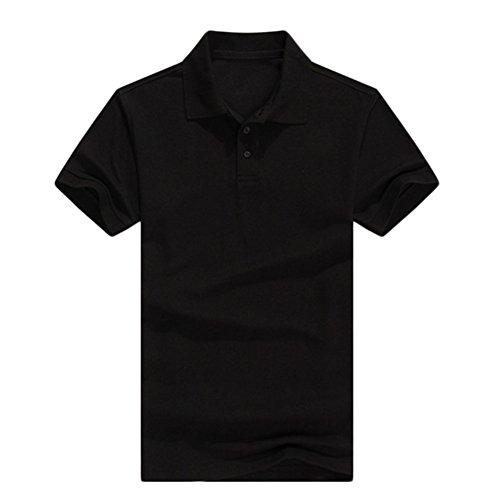 Demarkt Poloshirt Polohemd T-Shirts für Sport Freizeit und Arbeit Baumwolle Schwarz 3XL Schwarz x XL