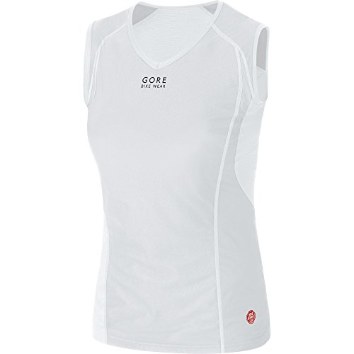 GORE BIKE WEAR Damen Unterzieh-Top, Stretch, Winddicht, GORE WINDSTOPPER, BASE LAYER WS Lady Singlet, Größe: 44, Grau/Weiß, UWSINL (Athletic Singlet Herren Ärmelloses)
