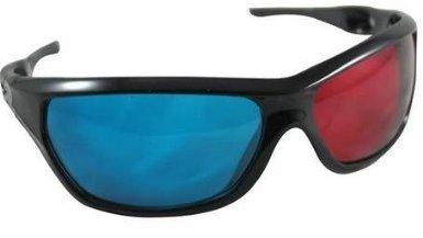 Rot Blau / Cyan 3D-Brillen Kunststoff für 3D-Spiel zum Film