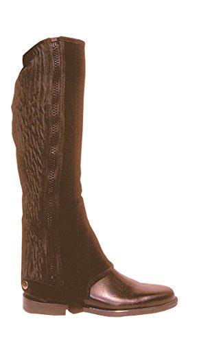 Amesbichler Beinchaps Arizona Wildleder mit elastischem Einsatz und Reißverschluss Gr. L, braun   Minichaps   Reitchaps   Reitletten