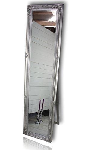 Standspiegel groß antik mit Patina | Spiegel mit Fuß barock aus Holz | im Landhausstil als...